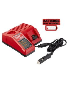 Milwaukee M12 and M18 12-Volt/18-Volt Lith-Ion Multi-Voltage 12V DC Vehicle Battery Charger Only (Batteries NOT Included)
