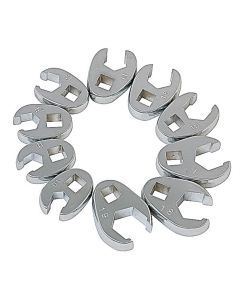 "3/8"" Drive 10 Piece Metric Flare Nut Crowfoot Wrench Set"