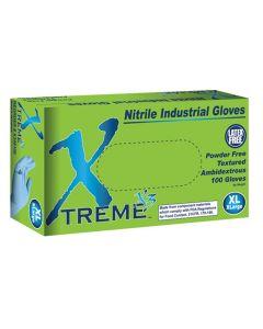 XL Xtreme X3 Powder Free Textured Blue Nitrile