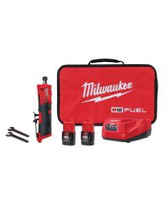 M12 FUEL Inline Die Grinder w/ (2) Batteries Kit