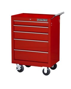 26 in. Roller Tool Cabinet 5-Drawer, Red