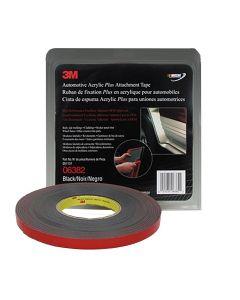"""3M Automotive Acrylic Plus Attachment Tape, Black, 1/2"""" x 20 yds."""