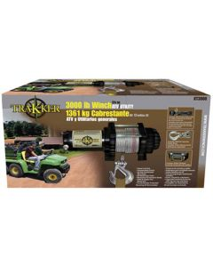 """Winch, 12 Volt, 3000 lb Single Line Rated Pull, Power In and Out, Hand Held Remote, 50' x 3/16"""" Wire"""