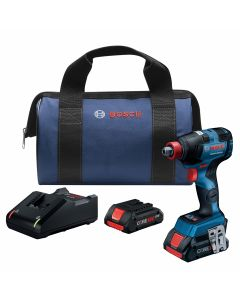 18V Brushless Socket Ready Impact Driver, Connected Ready w/ (2) 4.0 Ah CORE Compact Batteries
