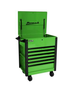 Homak Mfg. 35 in. Pro Series 7-Drawer Service Cart, Green