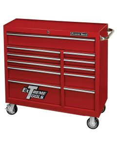 41 in. Deluxe 11-Drawer 24 in. Deep Roller Cabinet, Red