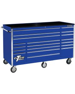 72 in. 19-Drawer Roller Cabinet, Blue