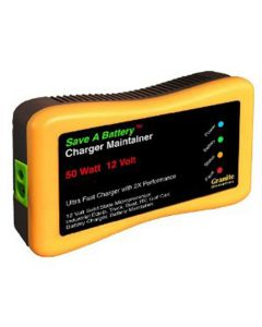 Save A Battery Charger and Maintainer, 50 Watt, for 12 Volt, with 10' Power Cord and 6' Cables