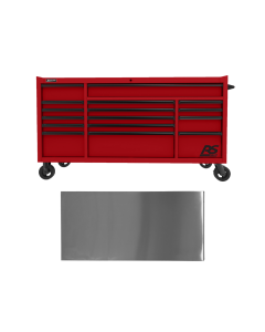 72 in. RS PRO 16-Drawer Roller Cabinet with 24 in. Depth, Red