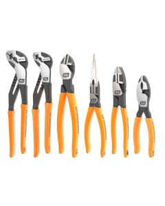 6 Pc. Pitbull Dipped Handle Mixed Plier Set