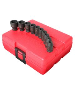 10-Piece 1/4 in. Drive Standard Fractional SAE Impact Socket Set