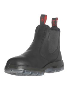 Redback Boots Black Slip-On Full Grain Leather Boot, Size 10