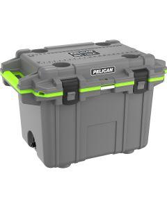 Pelican 50 Quart Elite Cooler, Dark Gray/Green