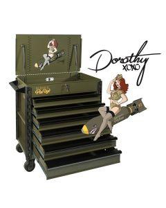 Sunex Premium Full-Drawer Service Cart, PinUp Series Dorothy