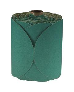 """6"""" 3M Stikit Green Fre-Cut Disc Roll - 100 Discs per Roll"""