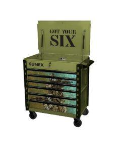 Sunex Tools Premium Full-Drawer Service Cart, Got Your Six Design