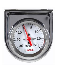 "2"" Mechanical Vacuum/Boost Gauge, White Face"