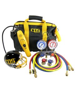 Tool Bag Kit with Leak Detector and Manifold