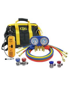Bag Kit with Leak Detector, Manifold and Couplers