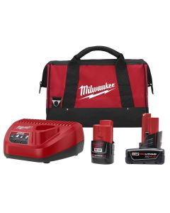 M12 REDLITHIUM CP 2.0Ah & XC 4.0Ah Battery and Charger Starter Kit