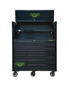Monster Mobile? 55 in. 2-Piece Combo Hutch and 11Drawer Cabinet, Matte Black