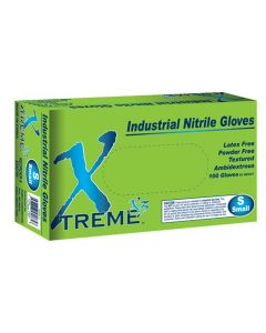 Xtreme X3 Powder Free Textured Blue Nitrile Industrial Gloves, Small