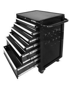 "26"" 6 Drawer Rolling Tool Cabinet w/ Peg Board Side Storage"