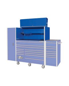 Extreme Tools 55 in. x 25 in. Pro Hutch, Blue
