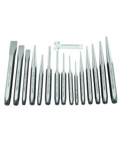 15-pc Punch and Chisel Set (in Tray)