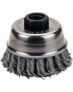 "Knot-Type Wire Cup Brush, 4"" Diameter"