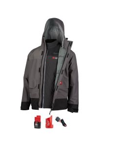 M12 3IN1 Heated AXIS Jacket Kit w/ Gray Rainshell