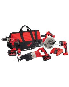 Milwaukee V28 Cordless Lith-Ion 4-Piece Combo Kit