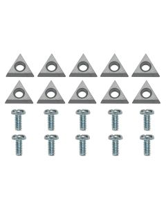 Bosch Positive-Rake Carbide Inserts with Screws (Pack of 10)