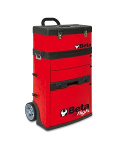 Two-Module Tool Trolley, Red