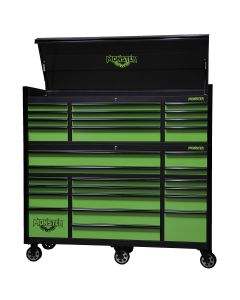 Monster Mobile? 72 in. 2-Piece Combo 12-Drawer Chest and 17-Drawer Cabinet, Matte Black/Green