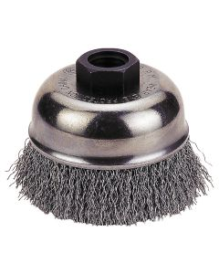 "Crimp-Type Wire Cup Brush, 3"" Diameter"