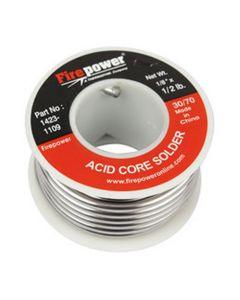 "Solder Acid Flux Core, 30/70, 1/8"" x 1/2lb."