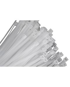 100-pack of 11 Natural Nylon Cable Ties with 31/16 Diameter and 50 lb. Tensile Strength