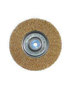 "6"" Crimped Wire Wheel, Coarse, Medium Face"