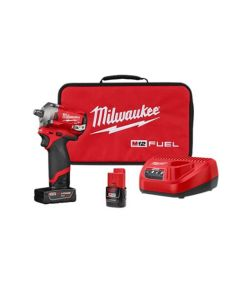 M12 FUEL Stubby 1/2 in. Impact Wrench w/ (2) Batteries Kit