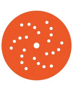 Dynabrade 6 in. Diameter Vac Dynacut Extreme Orange 320-Grit Premium Film Disc
