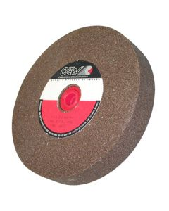 "Bench Grinder Wheel, 6"" x 1"" x 1"" with Bushings Down to 5/8"", Brown Aluminum Oxide, 60 Grit"