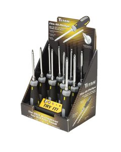 Titan One-Tip-Fits-All Screwdriver Counter Display (10 count)