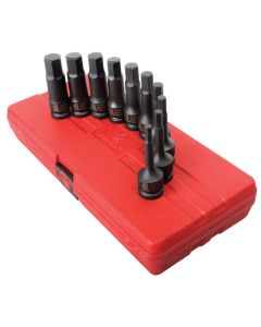 Sunex Tools 10-Piece 1/2 in. Drive Metric Impact Hex Driver Set