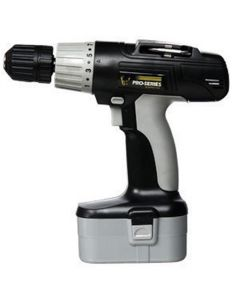 """Cordless Drill, 18 Volt, 3/8"""" Keyless Chuck, Multiple Torque Settings, with Battery and Charger"""