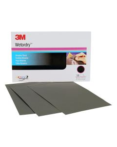 """3M Imperial Wetordry 5-1/2"""" x 9"""" Sheet - 50 Sheets per Sleeve"""