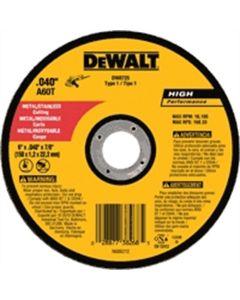 DeWalt 6 in. x .040 in. x 7/8 in. A60T Metal Thin