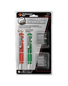 Performance Tool Precision Pocket Screwdriver 2-Piece Set