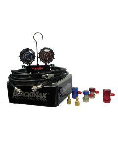 Black Max Series Dual R134a and R1234YF Manifold Gauge Set