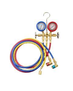OEMTOOLS 24563 R134a Brass Manifold Gauges Set
